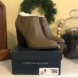 Tommy Hilfiger taupe ankle boots